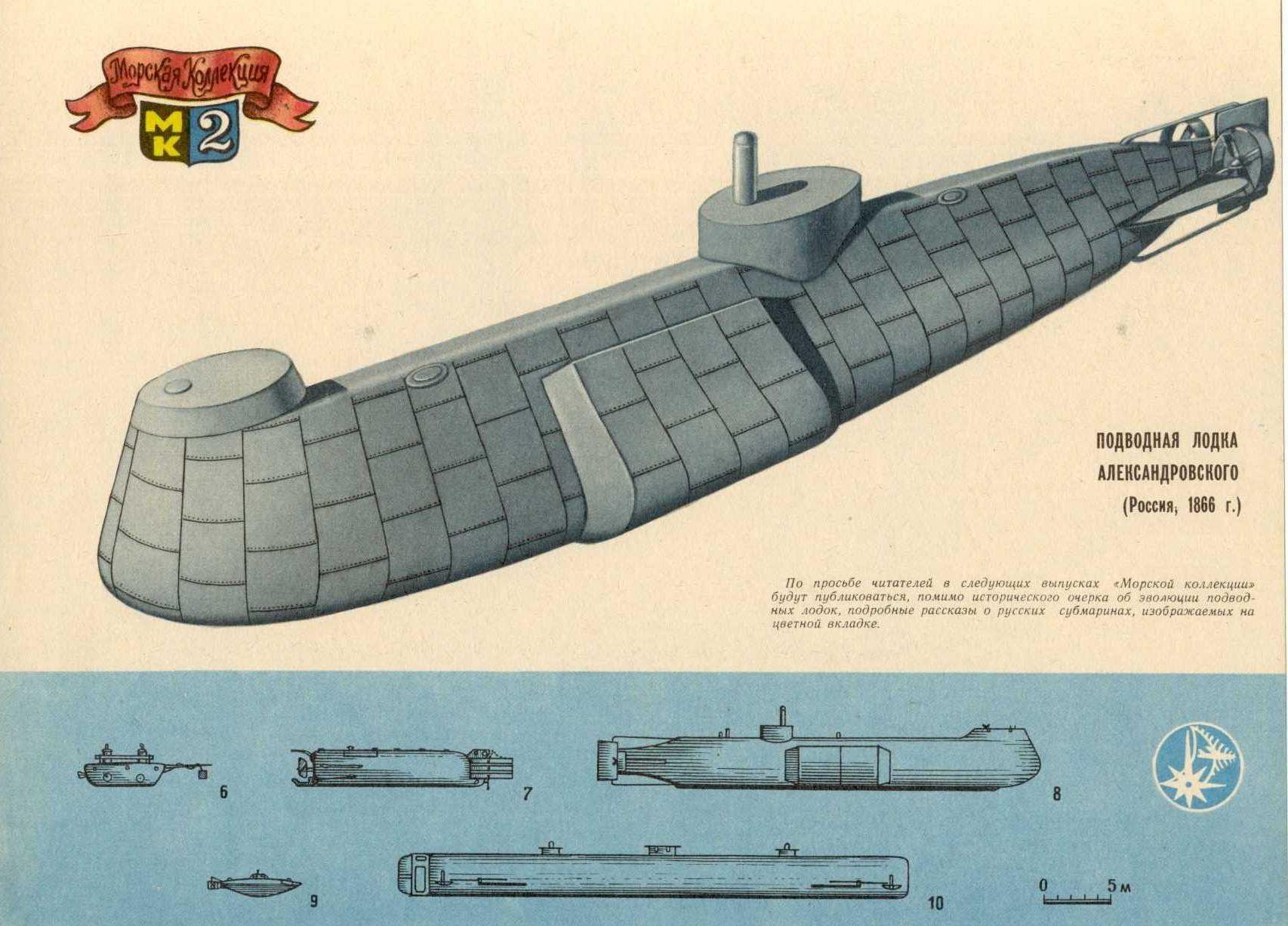 первые подводные лодки их происхождение